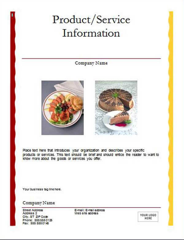 3 Advertising Flyers – Lunch Flyer Template