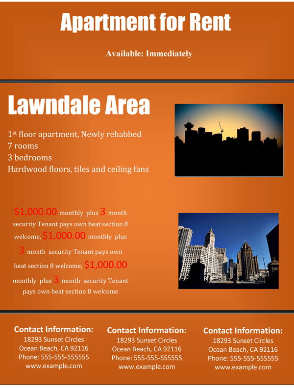 Rental Flyer Template