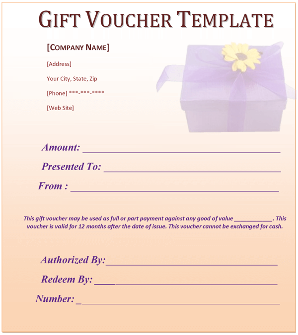 Voucher Template – Template for a Voucher