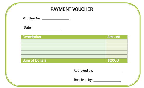 Printable Templates  Payment Voucher Template