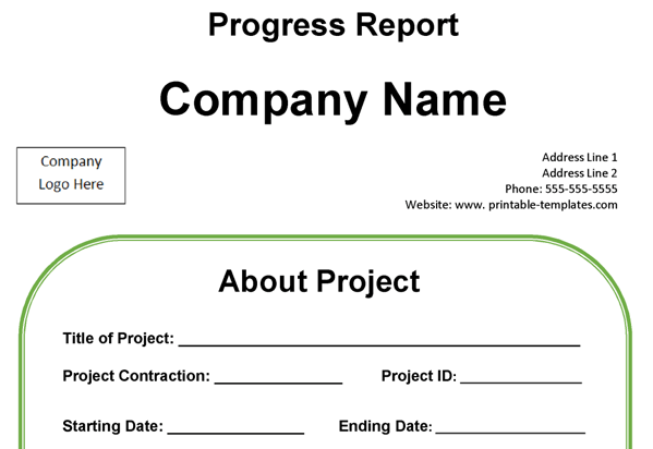 graphic relating to Printable Progress Report titled Developments Write-up Template